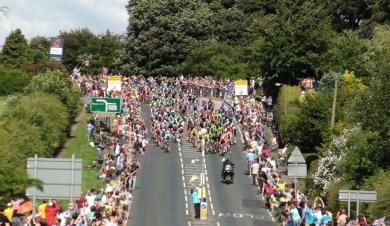 1. Tour de France passing Wormald Green 16.30  July 5th 2014  R Towers