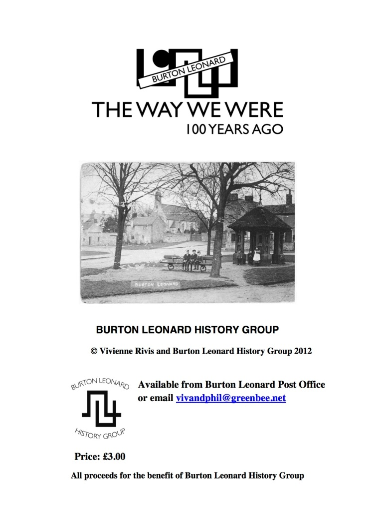 BURTON LEONARD HISTORY GROUP BL shop book poster